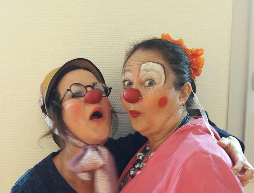 Photo de deux clowns